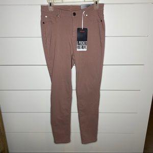 Avenue Mauve 5 Pocket Stretch Skinny Jean